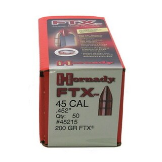 "Hornady 45 Caliber Bullets .452"" 200gr FTX (Per 50)"