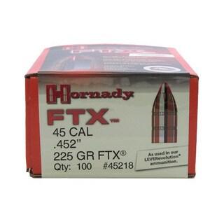 """Hornady 45 Caliber Bullets .452"""", 225gr (Per 100), Flex Tip"""