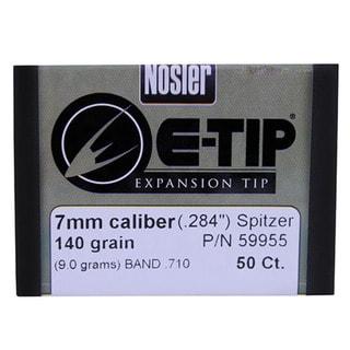 Nosler 7mm Bullets E-Tip, 140 Grains, Spitzer Boat Tail Lead Free, Per 50