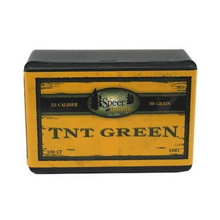 Speer 22 Caliber (.224) 30gr TNT Green HP(Per 100)