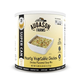 Augason Farms Hearty Vegetable Chicken Soup Mix 48 oz. Super Can