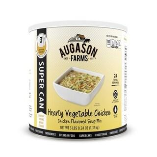 Augason Farms Hearty Vegetable Chicken Soup Mix 3 lbs .24 oz No. 10 Super Can
