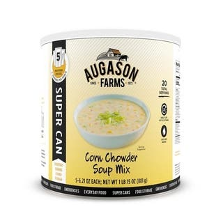 Augason Farms Corn Chowder Soup Mix 31.75-ounce #10 Super Can|https://ak1.ostkcdn.com/images/products/14394695/P20966446.jpg?impolicy=medium