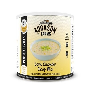Augason Farms Corn Chowder Soup Mix 1 lb 15.75 oz No. 10 Super Can
