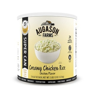 Augason Farms Entree Creamy Chicken Rice 2 lbs 12 oz No. 10 Super Can