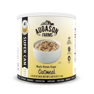 Augason Farms #10 Super Can 42-ounce Maple Brown Sugar Oatmeal