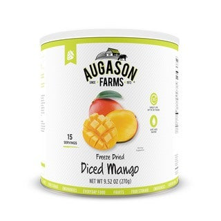 Augason Farms Freeze Dried Diced Mango 9. 52 oz No. 10 Can 3-Pack