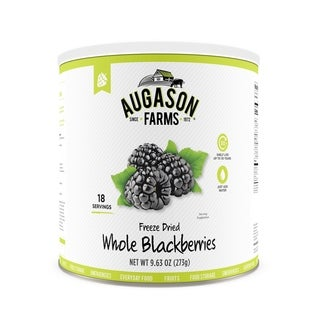 Augason Farms Freeze Dried Whole Blackberries 9.63 oz #10 Can (Pack of 3)