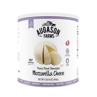 Augason Farms Freeze-dried Shredded Mozzarella Cheese 30.19-ounce #10 Can