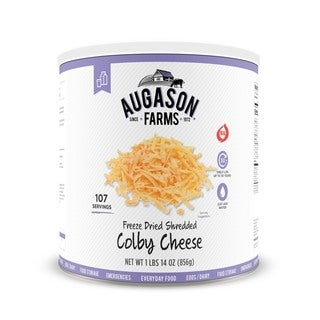 Augason Farms Freeze-dried Shredded Colby Jack Cheese 30.19-ounce #10 Can