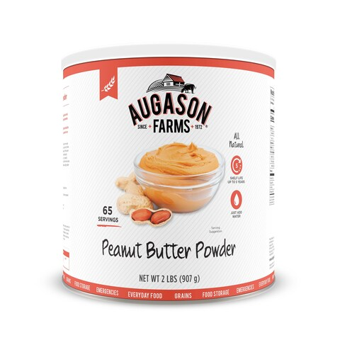 Augason Farms Peanut Butter Powder 2 lbs No. 10 Can