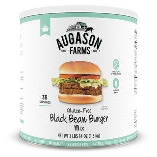 Augason Farms Gluten Free Black Bean Burger 2 lbs 14 oz No.