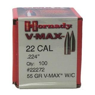 """Hornady 22 Caliber Bullets .224"""" 55gr V-MAX W/C (Per 100)"""
