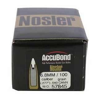 Nosler 6.8mm Remington SPC Bullets AccuBond, 100 Grains, Bonded Spitzer, Per 50