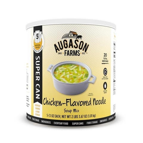 Augason Farms Chicken Noodle Soup Mix (Chicken Flavored) SUPER CAN