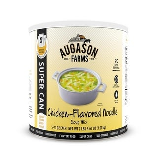 Augason Farms Chicken Noodle Soup Mix 2 lb 6. 4 oz No. 10 Super Can