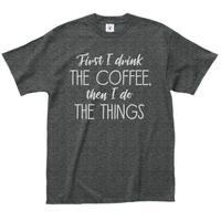 L.A. Imprints Men's Coffee Then Things Grey 100-percent Cotton T-shirt