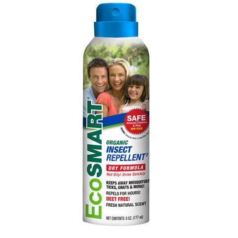 EcoSMART Deet-Free Organic Personal Insect Repellent Aerosol, 6-Ounce