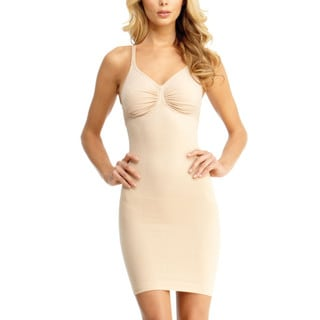 Memoi Women's Nylon and Spandex Adjustable Straps and Underwire Shaper Shaping Slip