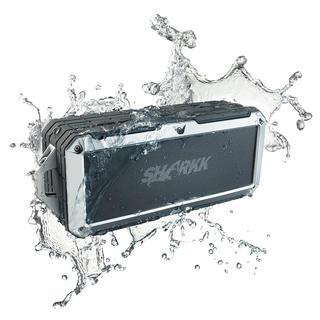SHARKK 2o 8W IP67-Certified WaterProof Portable Wireless Bluetooth Speaker- Black/Silver (Refurbished)