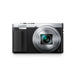 Panasonic Lumix DMC-ZS50 Digital Camera (Silver, Certified Refurbished),Case +16GB SD Card