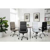 Modica Chromel Contemporary High Back Office Chair