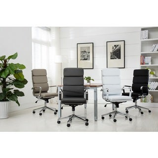 Modica Chromel Contemporary High Back Office Chair