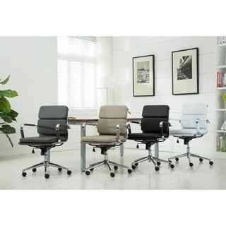 Modica Chromel Contemporary Low Back Office Chair