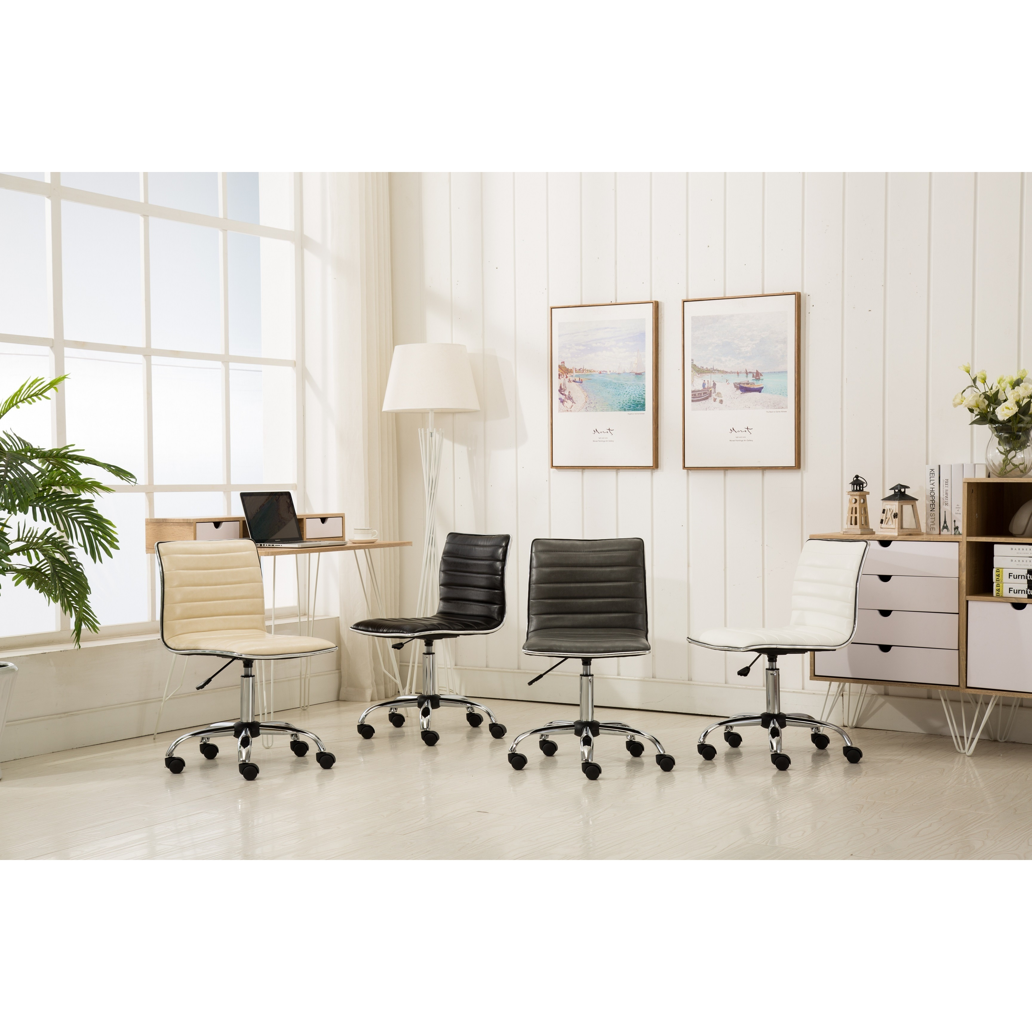 Black Fremo Chromel Contemporary Office Chair