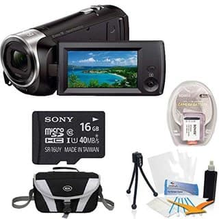 Sony HDRCX405 Handycam 1080p HD Camcorder w/ 8GB microSDHC Card & Software Bundle|https://ak1.ostkcdn.com/images/products/14395872/P20966526.jpg?impolicy=medium