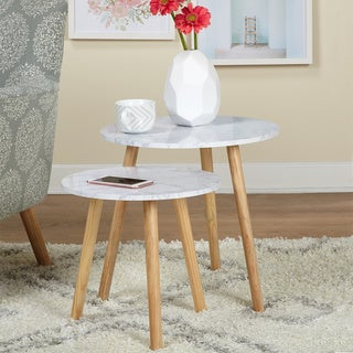 Simple Living Mid Century Darcy Nesting Tables