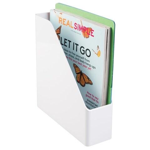 Interdesign White Plastic Magazine Holder