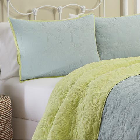 Vue Zuma Beach 100% Cotton Reversible Quilt Set
