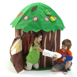 Bazoongi Green and Brown Fabric Puppet Tree Play Structure