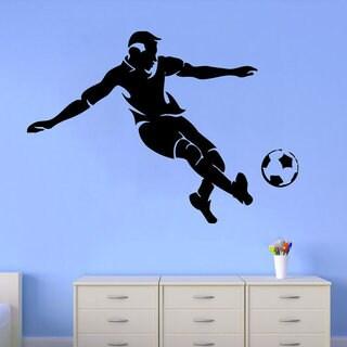 Man Football Player Decal Sport Vinyl Sticker Home Design Interior Dorm Art Mural Sticker Decal size