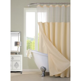 Gracewood Hollow Asimov Hotel Shower Curtain with Detachable Liner (Option: Ivory)