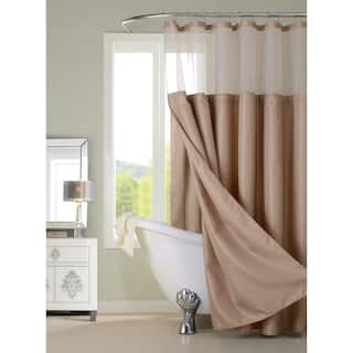 Gracewood Hollow Asimov Hotel Shower Curtain With Detachable Liner 3 Options Available