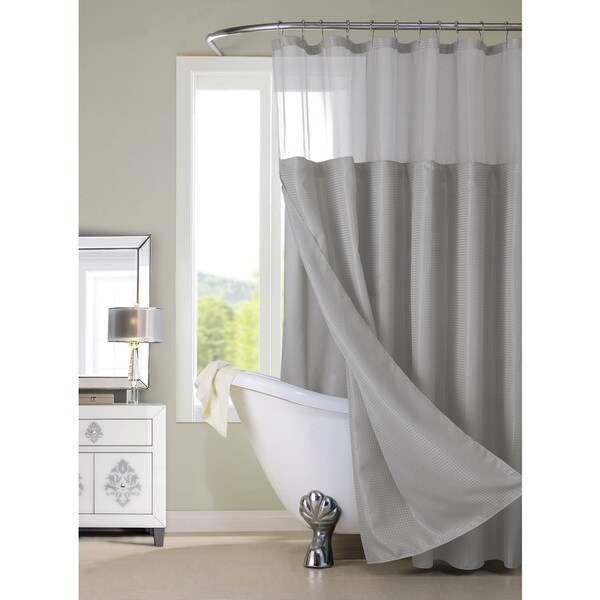 Hotel Shower Curtain With Detachable Liner   Free Shipping On Orders Over  $45   Overstock.com   20966767