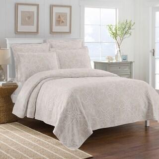 LaMont Home Calypso Collection  100% Cotton Matelassé Coverlet