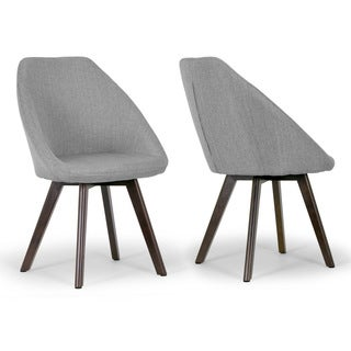 Alda Grey Fabric Arm Chair with Beech Legs (Set of 2)