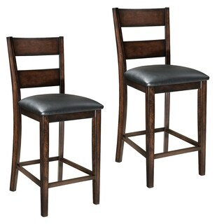 Pendwood Brown Wood Counter-height Stools (Set of 2)