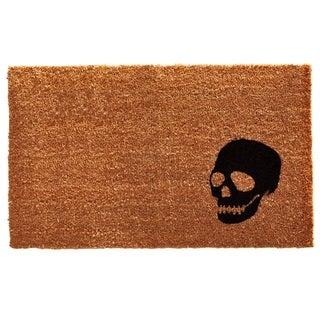 Black Skull Doormat (2' x 3')
