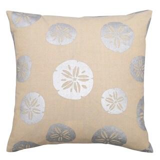Lush Decor Sand Dollars Off-white 18-inch Decorative Throw Pillow