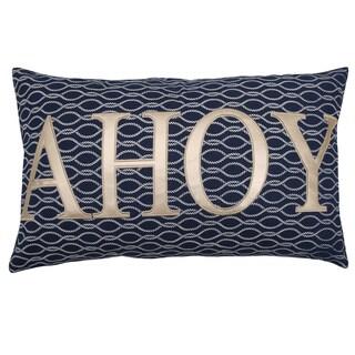 Lush Decor Blue Cotton Ahoy Decorative Throw Pillow