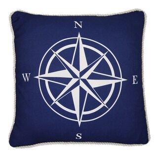 Lush Decor Compass Sign Decorative 18-inch Throw Pillow
