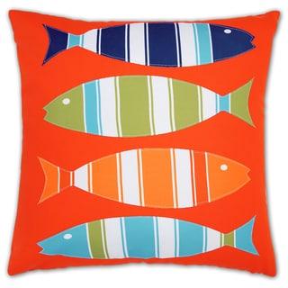Lush Decor 4 Fishes 18-inch Decorative Throw Pillow