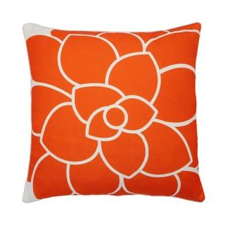 Lush Decor Abstract Flower Orange 18-inch Decorative Throw Pillow