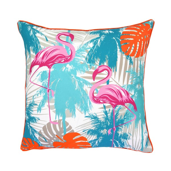 Lush Decor Flamingo and Palm Tree 18-inch Decorative Throw Pillow