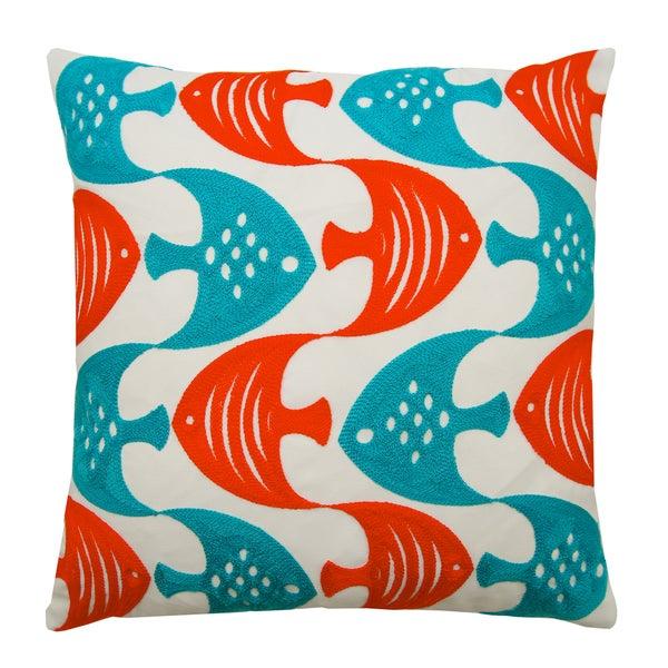 Lush Decor Tropical Fish 18 Inch Decorative Throw Pillow