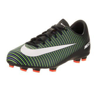 Nike Kids Jr Mercurial Vapor XI Fg Black Soccer Cleat